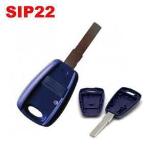 Fiat 1 Button Remote key Case SIP22 - BLU