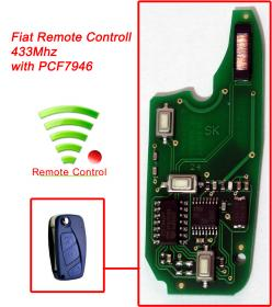 Remote - Fiat 3 Button - PCF7946 - 433Mhz